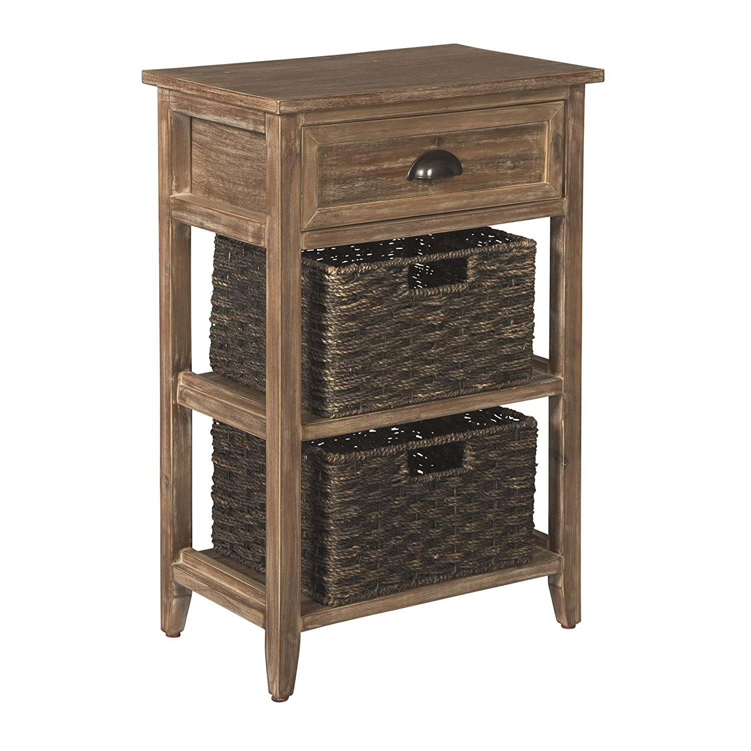 Signature Design by Ashley A4000140 Oslember Accent Table, 2-cubby, Brown