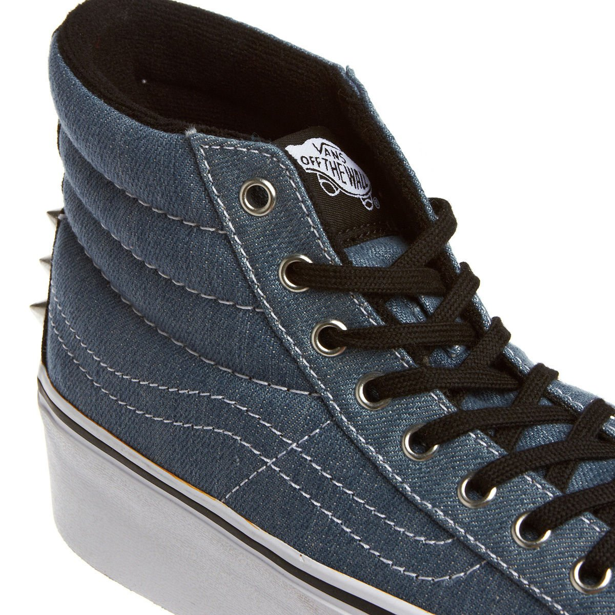 3f6ccb9eef9d Vans Women s VRRF8SK Sk8-Hi Platform Blue Size  9  Amazon.co.uk  Shoes    Bags