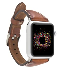 Slim Leather Apple Watch Band for Women, 38mm, 40mm, 42mm, 44mm, Brown, Pink, Black, Red, Purple, Yellow, Green, iWatch Strap, Feminine Design, HANMDADE, Anniversary Gift
