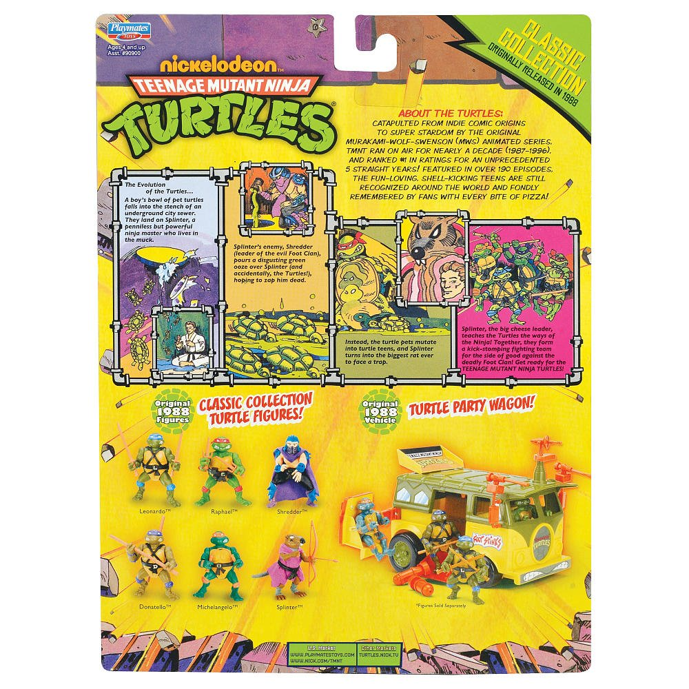 Teenage Mutant Ninja Turtles Retro Collection 4 Inch Action ...