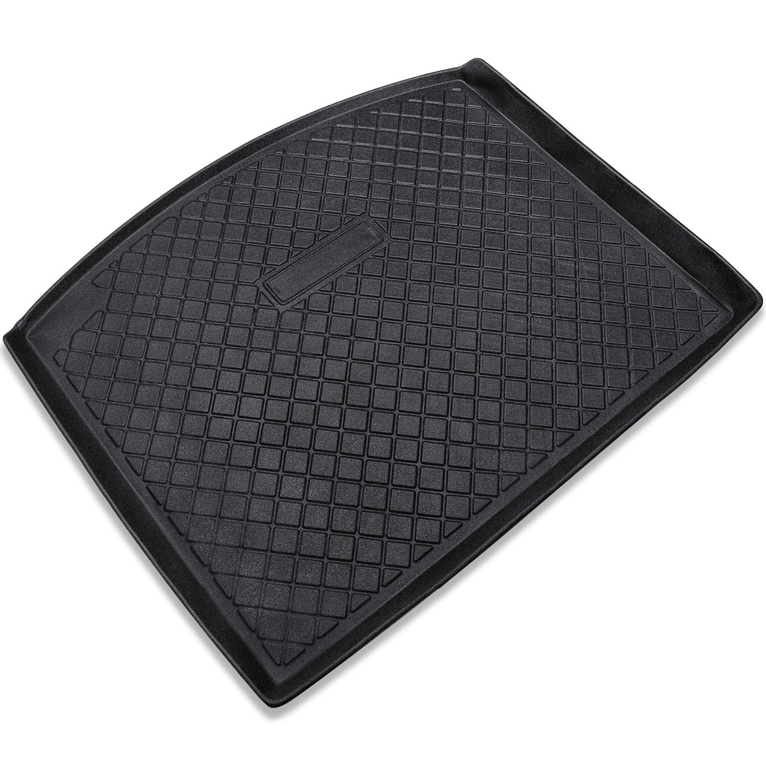 All Weather Odorless Unlimited 4-Door E-cowlboy Cargo Liner Cargo Tray Mat for Jeep Wrangler JL 2018~2020 Black Rubber Trunk Floor Mat Custom Fit