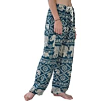 Your Cozy Harem Pants Womens Plus Bohemian Yoga Elephant Beach Casual Printed Drawstring Trousers