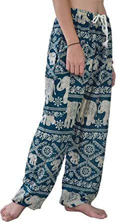 Your Cozy Harem Pants Womens Plus Bohemian Yoga Elephant Beach Casual Printed Drawstring Trousers