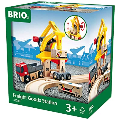 BRIO World - 33280 Freight Goods Station | Toy Train Accessories for Kids Age 3 and Up: Toys & Games