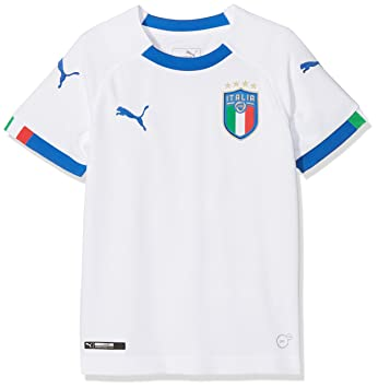 469a064143a7 Puma Figc Italia Away Replica Short Sleeve Shirt - Puma White Team Power  Blue