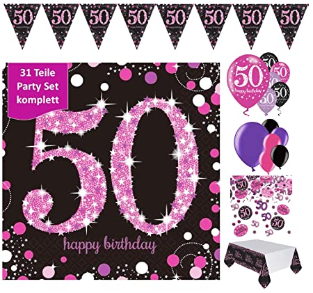 Fijo celebran Figura decorativa para 50 cumpleaños, completa ...