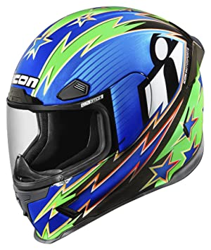 Icon Airframe Pro Warbird - Casco de moto, color azul