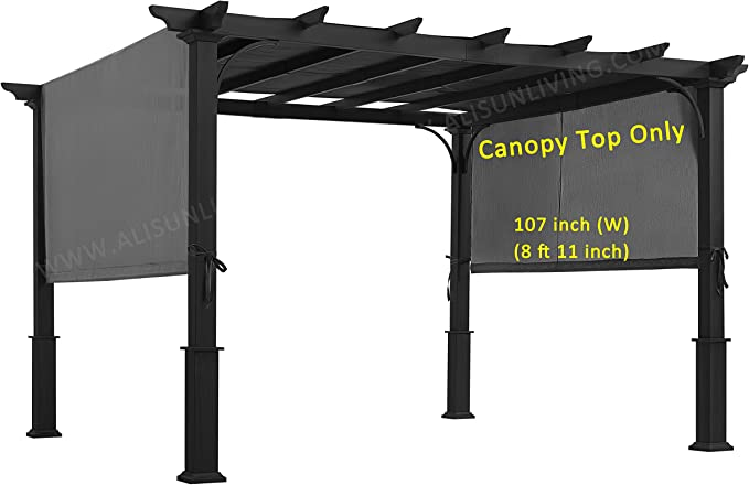 ALISUN Sling Canopy for 10 FT Pergola - Best For Sun Protection