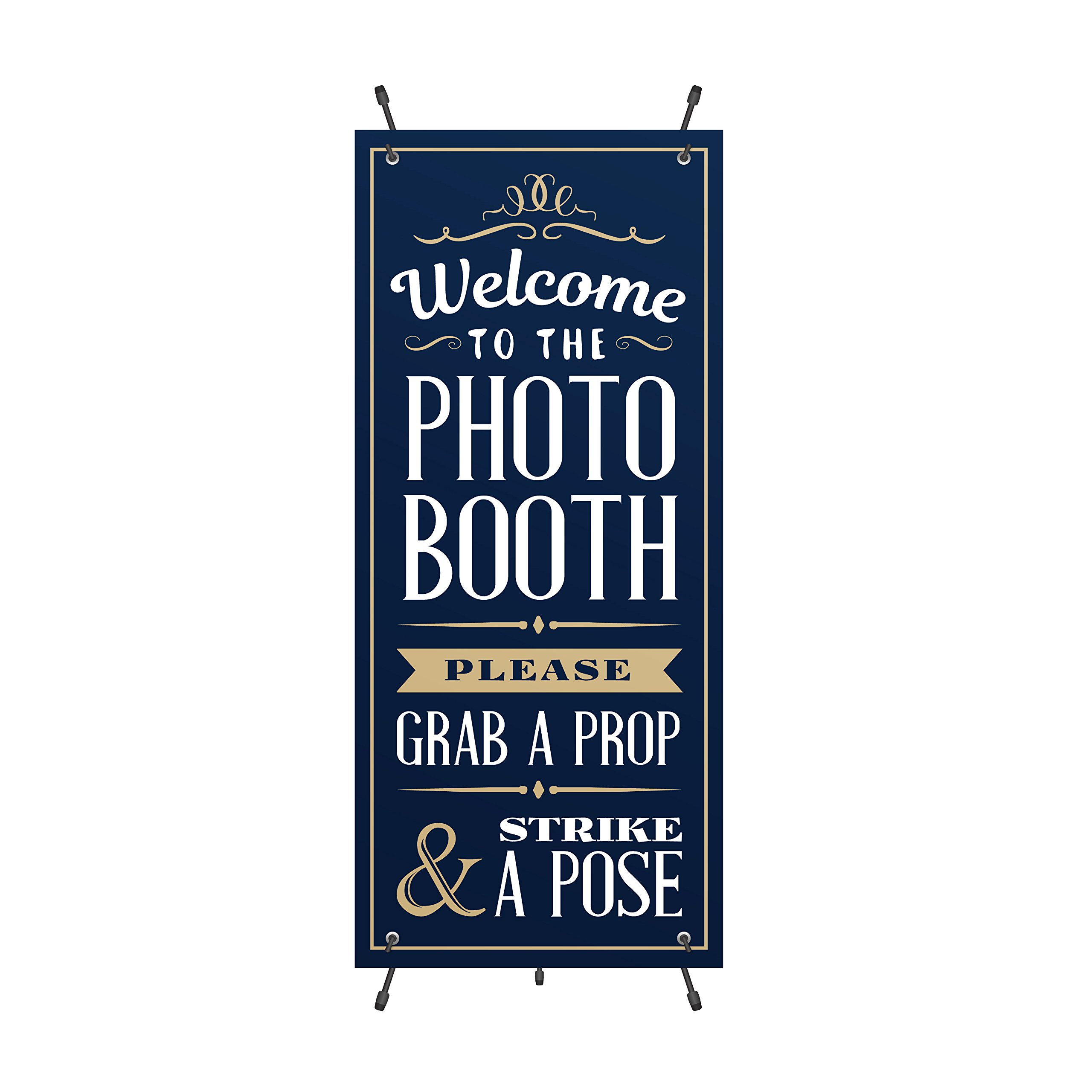 PHOTO BOOTH BANNER, Great for Photo Booth Businesses, Easy to Setup, Perfect Banner for Weddings Birthdays and more! Beautiful Clean Look.