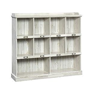 Sauder 423672 Barrister Lane Bookcase, White Plank Finish