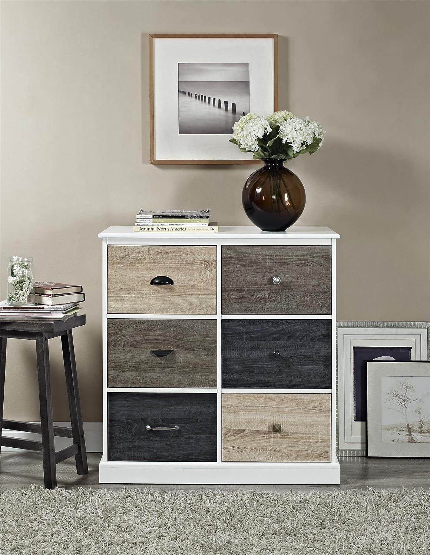 Amazon.com: Ameriwood Home Mercer 6 Door Storage Cabinet With Multicolored  Door Fronts, White: Kitchen U0026 Dining
