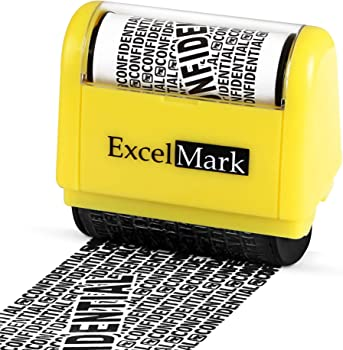 ExcelMark Wide Rolling Identity Theft Guard Stamp