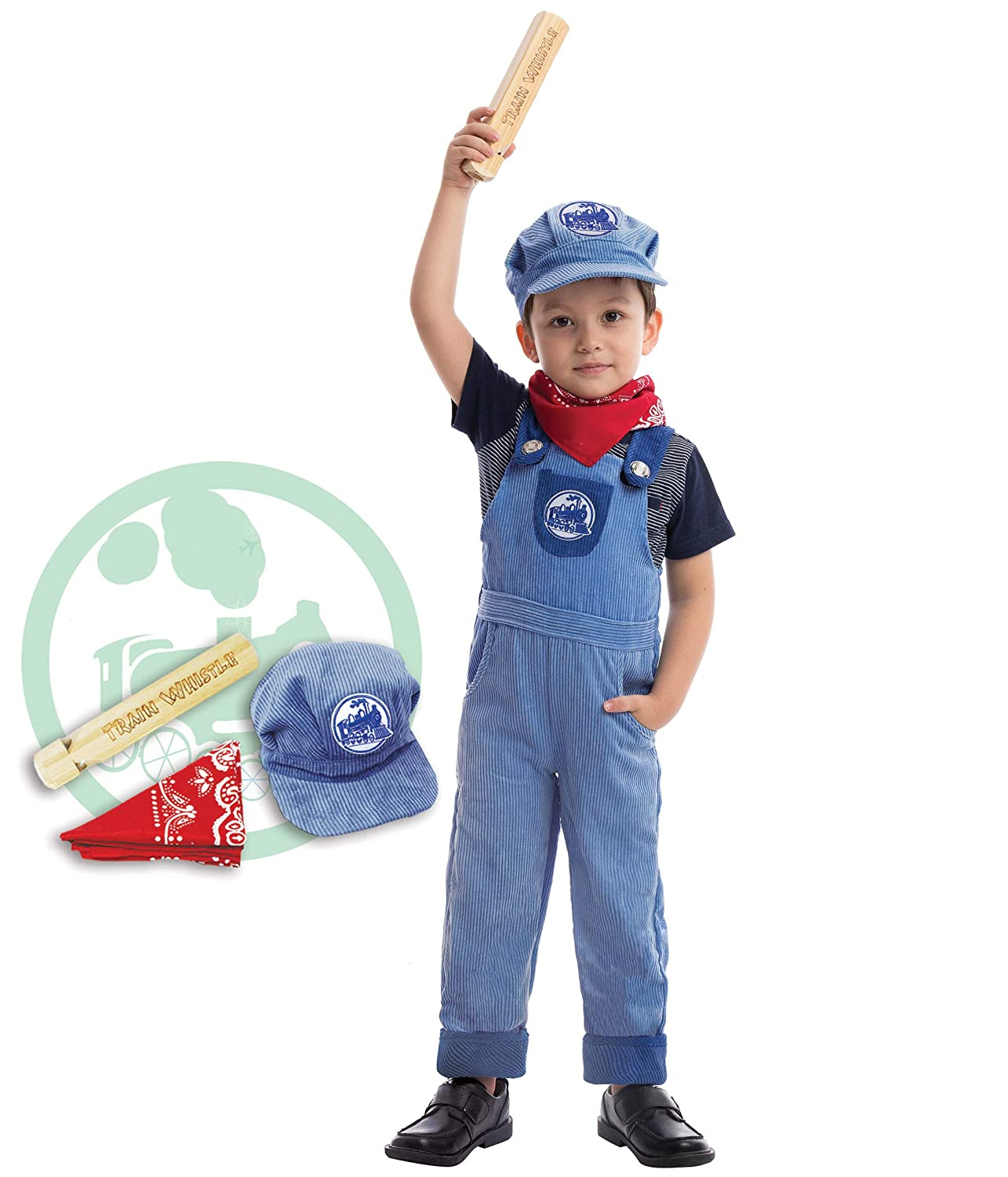 Amazon.com  Spooktacular Creations Train Engineer Costume Deluxe Set for  Kids Halloween Party Dress Up 265791c2c16