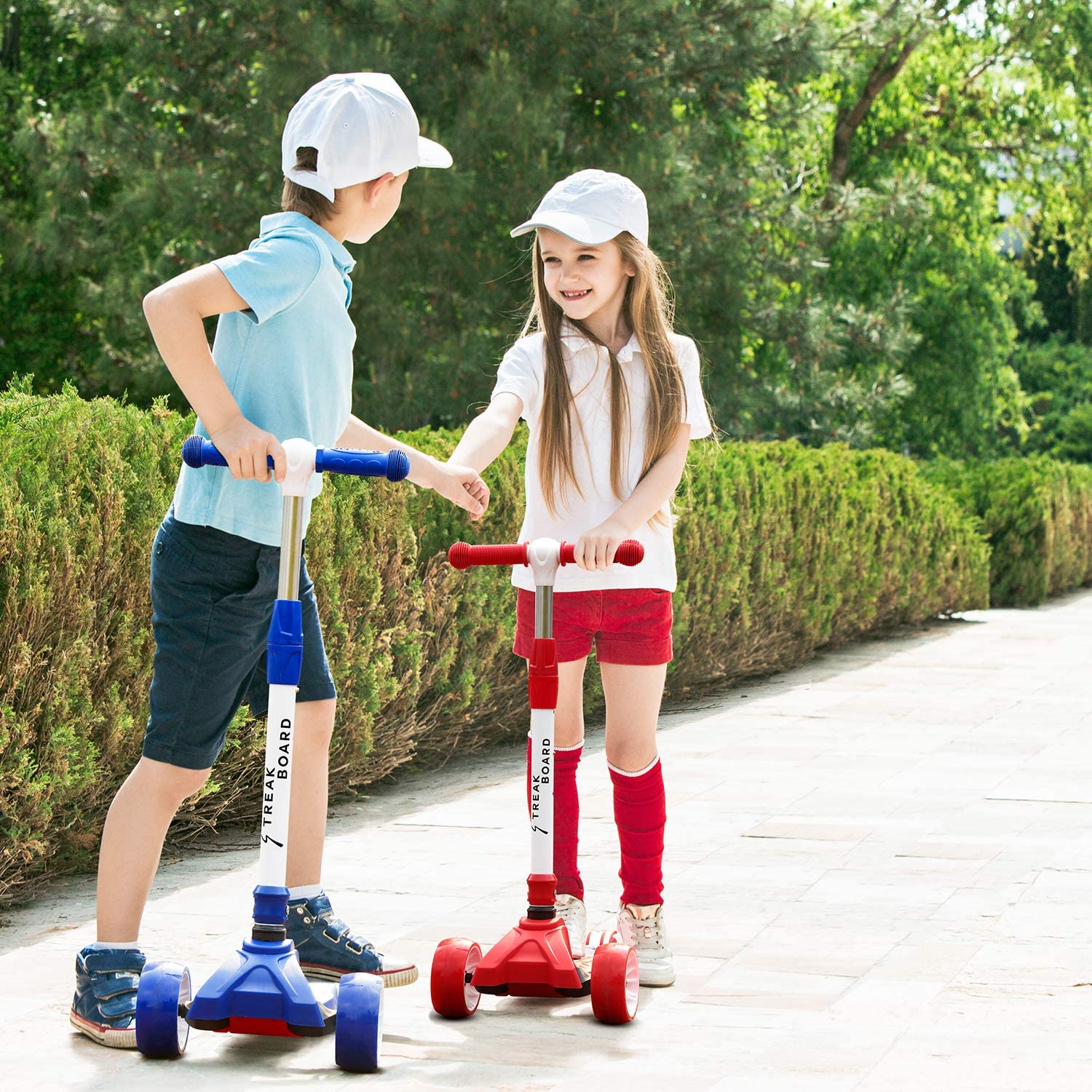 Kick Scooter for Kids Featuring Quick-Release Folding System Foldable with 3 Adjustable Height Wide Deck Flashing PU Wheels Kickboard Lean-to Steer Scooters for Children Multiple Colors Available