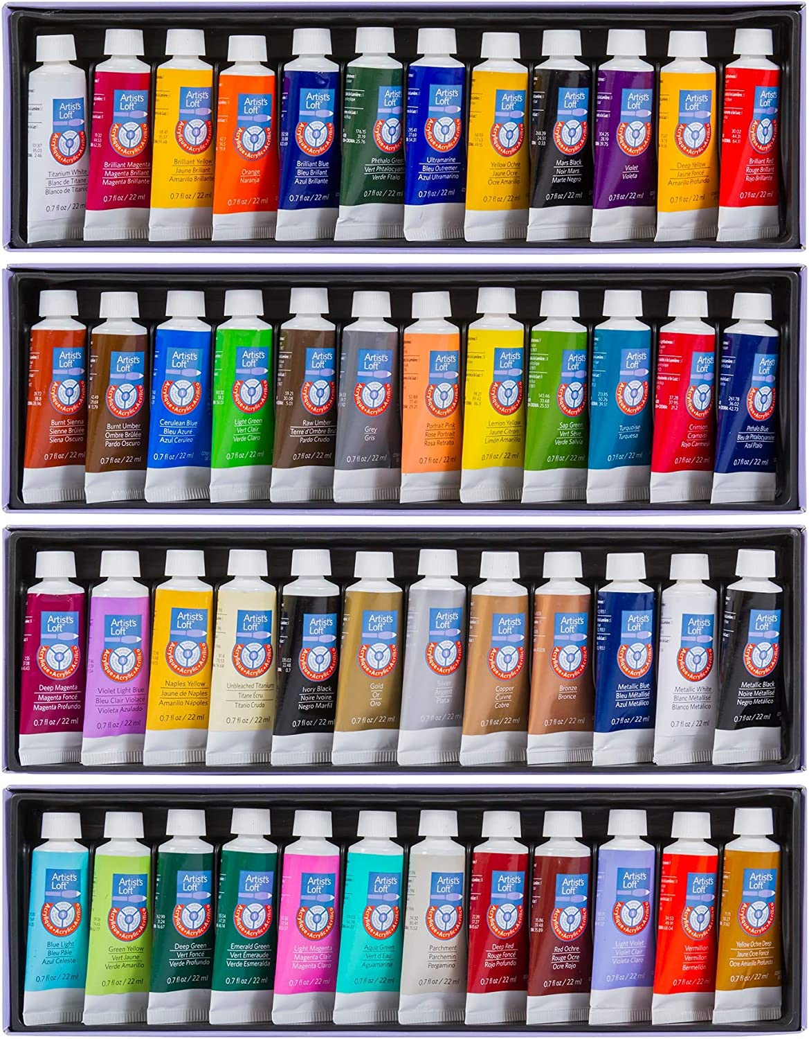 Acrylic Paint Tube Set by Artist's Loft, 48 Count