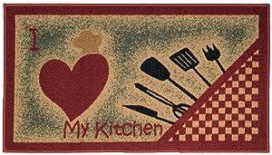 Maxy Home CU-5569-1X2 Cucina Collection Doormats, Area Rugs