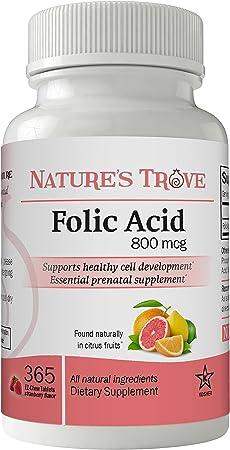 Nature's Trove Folic Acid 800 mcg