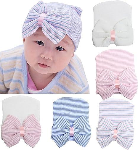 Z-Chen Gorro para Recien Nacido Niña - 5 Pack: Amazon.es: Bebé