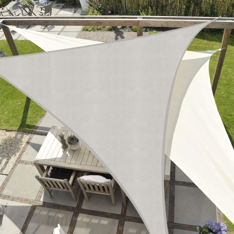 JYYnet Vela Ombreggiante 2/×2/×2m, Beige Vela Parasole Triangolare Tenda a Vela Impermeabile Protezione Raggi UV Vela Tenda per Giardino Terrazza Campeggio