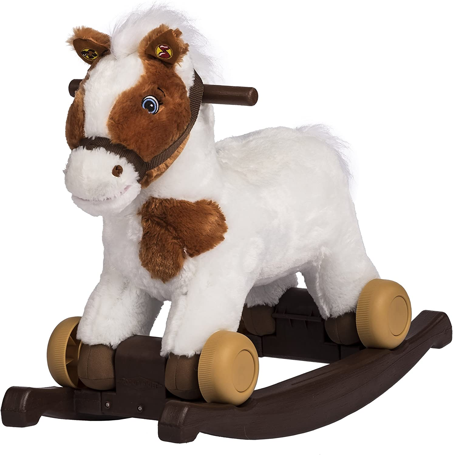 Rockin Rider Carrot 2-in-1 Pony Plush Ride-On, Painted
