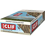 CLIF BAR - Energy Bar - Coconut Chocolate Chip - (2.4 Ounce Protein Bar, 12 Count)