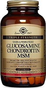 Solgar – Triple Strength Glucosamine Chondroitin MSM (Shellfish-Free) 120 Tablets