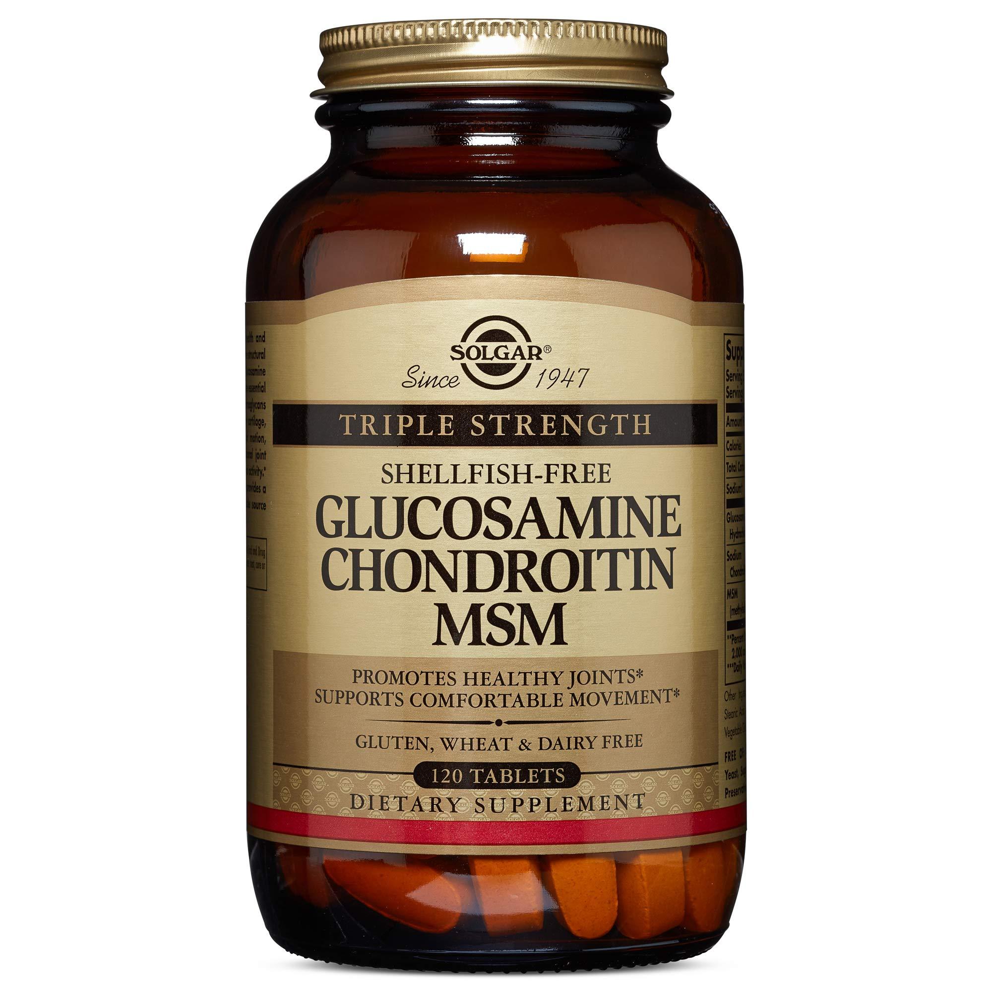 Solgar - Triple Strength Glucosamine Chondroitin MSM (Shellfish-Free) 120 Tablets by Solgar