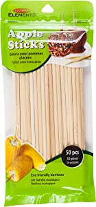 Culinary Elements Bamboo Candy and Caramel Apple Sticks for 50 Individual Servings, 1-pack