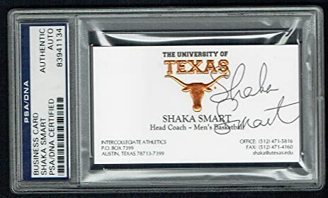 Shaka smart signed autograph auto business card texas basketball shaka smart signed autograph auto business card texas basketball coach psa slab colourmoves