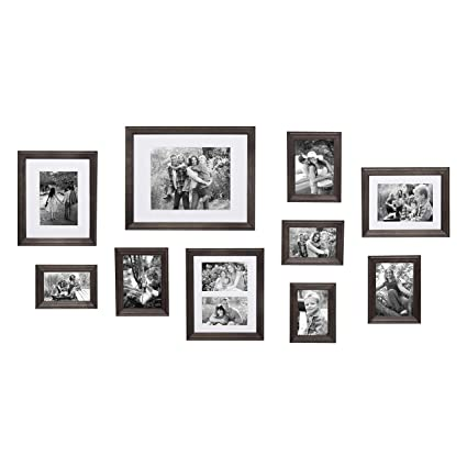 Amazon Com Kate And Laurel Bordeaux Gallery Wall Kit Set Of 10