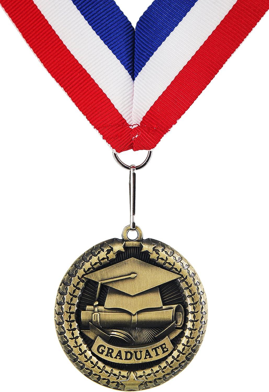 Medalla de recuerdo de graduación de aleación de zinc con cinta GraduationMall - mondon001, 1 por paquete, 1 pce: Amazon.es: Deportes y aire libre