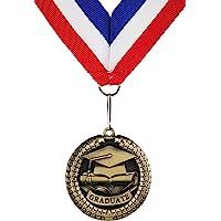 GraduationMall–Aleación de zinc graduación recuerdo medalla con cinta