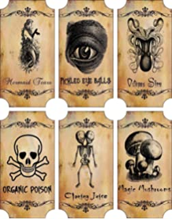 photograph regarding Free Printable Halloween Poison Bottle Labels called : Potion Bottle Sticker Labels Voodoo Fresh Orleans
