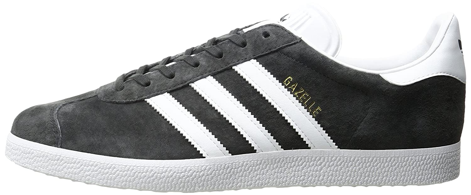 adidas Men's Gazelle Casual Grey Sneakers B01HLJHMSA 7.5 M US|Dark Grey Casual Heather/White/Metallic/Gold 3b3117