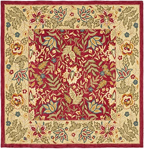 Safavieh HK140 Chelsea Area Rug 11 9 L x 8 9 W Large Rectangle Red Ivory