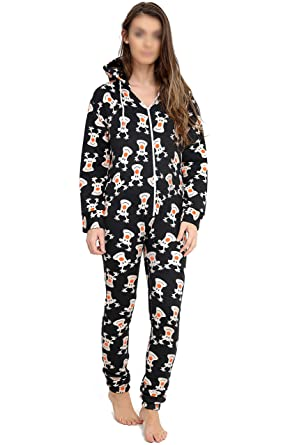 bf5411fa1335a NEW Womens Novelty Festive Christmas Onesie Santa Reindeer Rudolph Xmas  Onesie All-in-one Jumpsuit PJ Pyjamas: Amazon.co.uk: Clothing