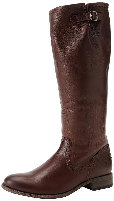 FRYE Women's Pippa Back Zip Tall Boot, Dark Brown, ...