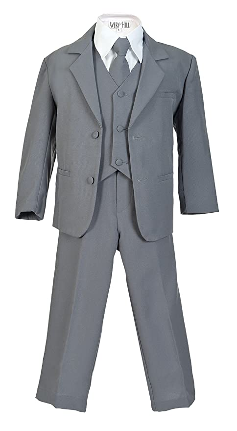 1930s Childrens Fashion: Girls, Boys, Toddler, Baby Costumes Avery Hill Boys Formal 5 Piece Suit with Shirt and Vest $45.99 AT vintagedancer.com