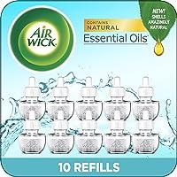 Air Wick Plug in Scented Oil 10 Refills, Fresh Waters, Eco Friendly, Essential Oils, Air Freshener