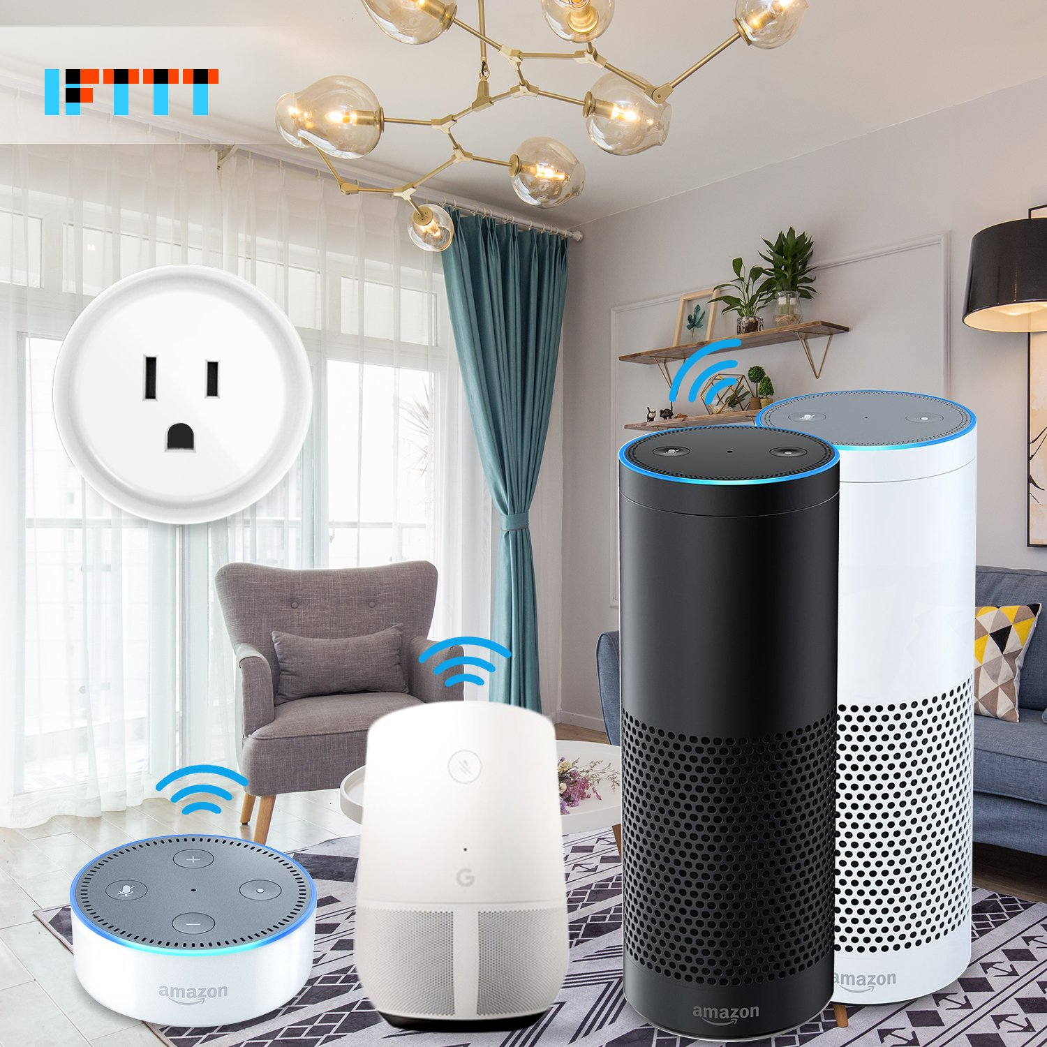 Smart Plug Works with Amazon Alexa/Google Home/IFTTT, No Hub Required Wifi Enabled Smart Outlet 4 Pack by Luntak (Image #6)