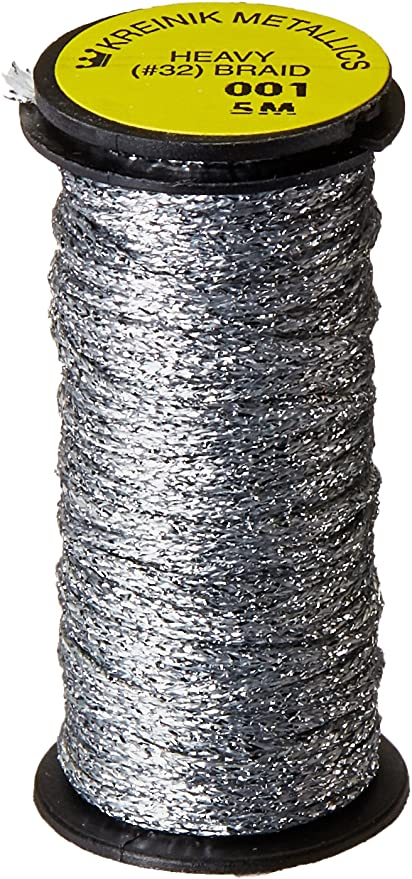 1 x 10m spool Kreinik Cable 001P Silver