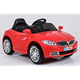 "Ricco S2188 ""Lights and Music Red BMW Style Kids Ride on"" Remote Control Car"