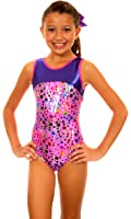 TumbleWear Girl's Makenna Pink Party Time Leotard
