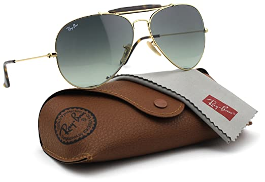 13afe7ed6 Image Unavailable. Image not available for. Color: Ray-Ban RB3029 181/71  OUTDOORSMAN HAVANA Gold Frame / Grey Gradient ...