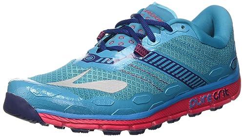 Brooks PureGrit 5, Zapatillas de Running para Asfalto para Mujer, Turquesa (Peacock Blue/Virtual Pink/Patriot Blue), 38 EU