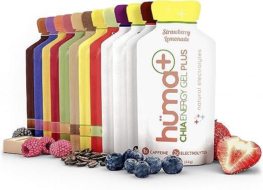 Huma PLUS - Chia Energy Gel, 4 PLUS & 8 Original, 12 Paquetes ...
