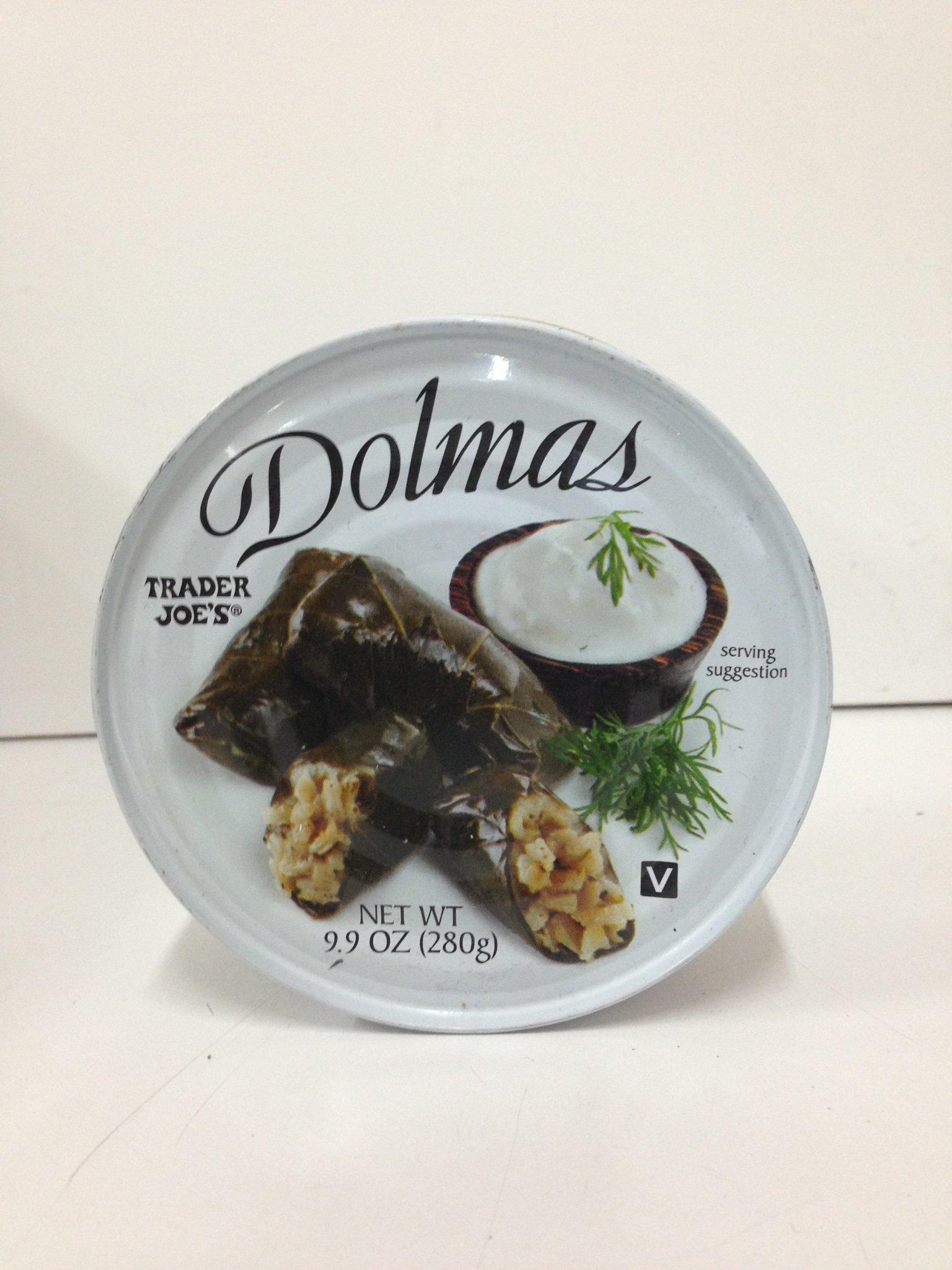 Trader Joe's Dolmas Vine Leaves Stuffed with Rice (Pack of 6)