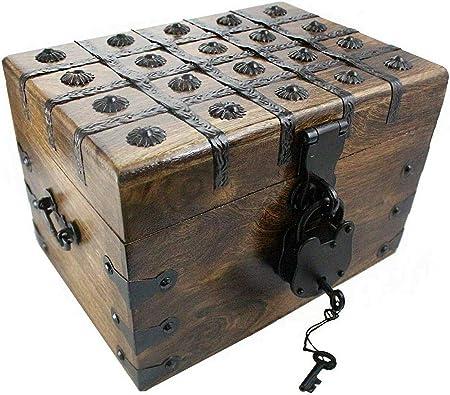 Well Pack Box WPB - Caja Fuerte de latón para Cajas Decorativas con candado de tamaño Completo: Amazon.es: Hogar