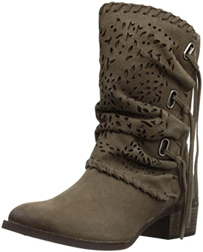 Naughty Monkey Women s Vamp Phyer Ankle Bootie Taupe 6 ... 89d240beaf76