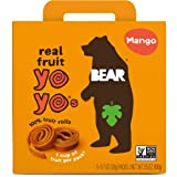 BEAR - Real Fruit Yoyos - Mango - 0.7 Ounce (5 Count) - No added Sugar, All Natural, non GMO, Gluten Free, Vegan…